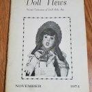 Doll News UFDC Magazine - November 1974