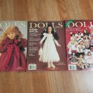DOLLS The Collectors Magazine - Lot of 3 Magazines 1996