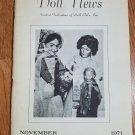 Doll News UFDC Magazine - November 1971