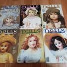 DOLLS The Collectors Magazine - Lot of 6 Magazines 1990