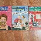 Vintage Popular Electronics Magazines (3 Issues) 1956