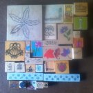 Lot of 30 Used Mounted Rubber Stamps Flowers Various Sizes & Designs Lot #4