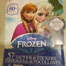50+ Disney Frozen Tattoos & Stickers - 25 Temporary Tattoos + 25 Stickers