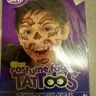 Glow Costume Face Tattoos - 16 Temporary Tattoos