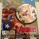 Marvel Avengers 27 temporary Prism FOIL tattoos pack
