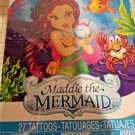 Maddie The Mermaid 27 temporary Prism FOIL Tattoos Pack