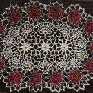 Crochet Oval Rose Pattern Doilies ,Rose Oval Doily