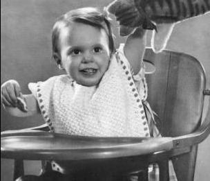 Vintage Baby Pattern Feeding Bib Crochet Vintage