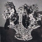 Vintage Flower Basket Pattern Thread Crochet Vase