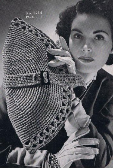 Crochet Vintage Handbag Pattern Clutch Bag