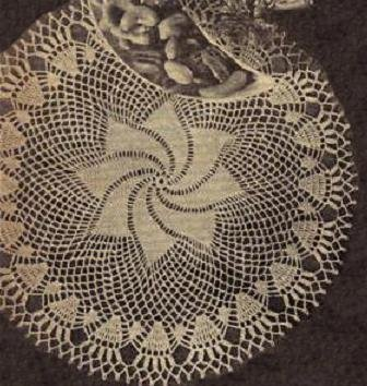 Doily Vintage Crochet Pattern,  Crochet Comet's Tail Pattern