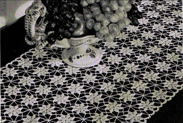 Crochet Flower Pattern Daisy Table Runner