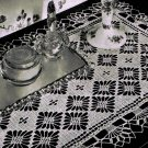 Table Runner Crochet Vintage Clover's Path Pattern, Table Runner Crochet Lace