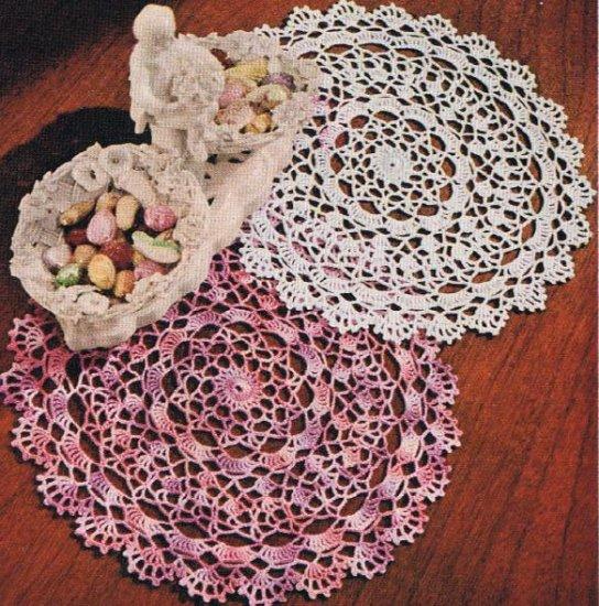 Crochet Shaded-Pink Lavender Doily Crochet Pattern Vintage