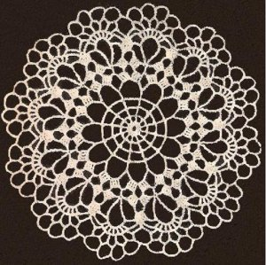 Vintage Lace Doilies, Thread Crochet Doily Pattern Page, Vintage Crochet Patterns