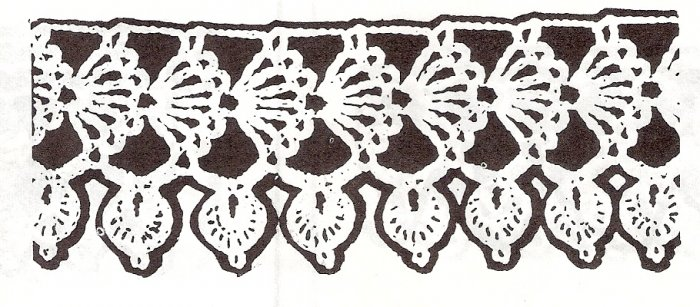 Edging for Flannel Crochet Baby Blanket Pattern, Receiving Edges Vintage Trims