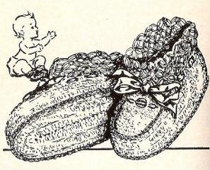 Crochet Baby Booties Vintage Solomon's Knot  Pattern