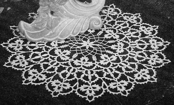 Cloverleaf Crochet Irish Doily  Mat Motif Doily Clover Pattern