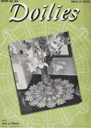 Doily Vintage Patterns Crochet Book, 163 Crochet