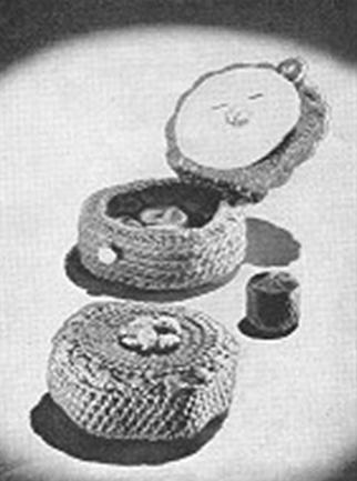 Sewing Kit Pattern Vintage Needle Crochet Book