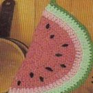Vintage Watermelon Slice, Crochet Potholder Pattern