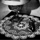Doily 7796 Crochet Table Doily Vintage Pattern,Spool Cotton Co.