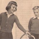 Patterns: Crochet Childrens Cardigan Girls, Boys Pullover Children Swearers