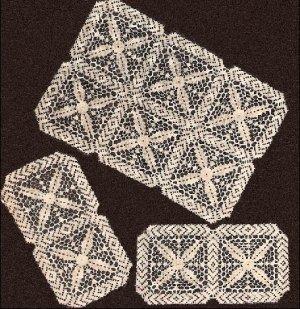 Chair Sets Patterns Square Motifs Crochet Sets