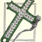 Vintage Crochet Pattern Cotton, Bookmark Cross Thread Pattern