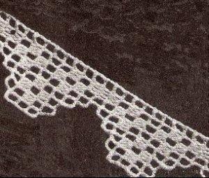 Pattern Pillowcase Edgings, Lace Patterns, Crochet Edging Filet