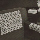 Crocheted Chair Set Motif Square: Vintage Chairsets Crochet Pattern