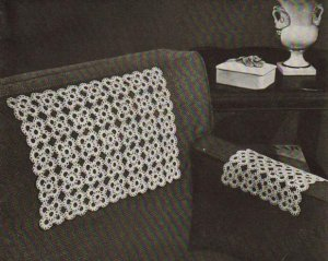 Crocheted Chair Set Motif Square: Vintage Chairsets Crochet Pattern