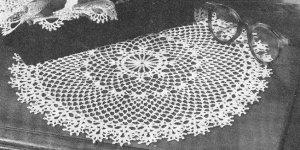 Flower Edge, Irish Doilies, Pattern  Crochet Doily
