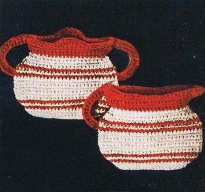 Vintage Creamer Crochet Sugar Bowls: Vintage Potholders Crochet Patterns