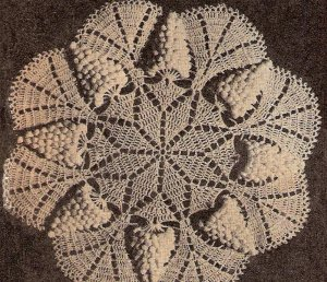 Crochet Grape Doily Pattern, Pdf Wild Grape Doily