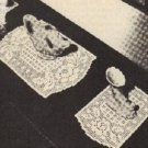 Doilies Filet Crochet Patterns, Doily Dresser 3pc Rose Vanity Set