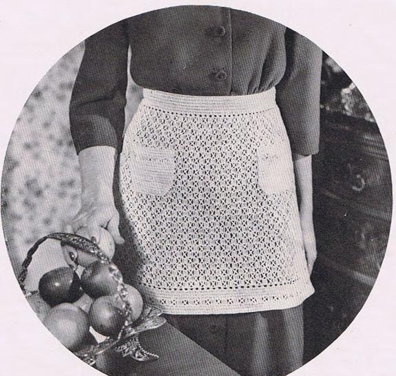 Vintage 50s Aprons Crochet Kitchen Aprons, Patterns Aprons