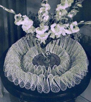 Crochet Double Ruffle Doily Centerpiece  Pattern