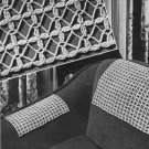 Sets Pattern, Crochet Chair Backs Vintage Openwork