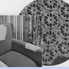 Crochet Motifs Chair Set  Floral Pattern