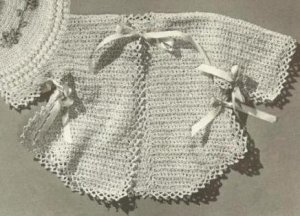 Sacque Crochet Vintage Pattern Baby Sweater