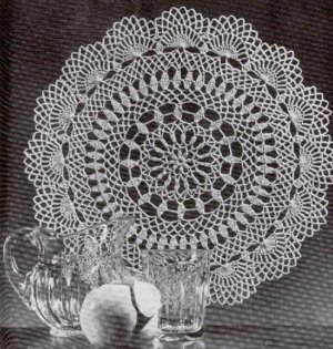Vintage Flowing Fountain Doily Crochet Pattern