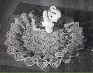 Crochet  Full Bloom Ruffle, Doily  Pattern