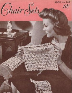 Crochet Pattern Sets Chair, Vintage Book