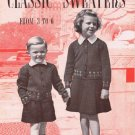 #246 Knitted  Children's  Sweaters Pattern Book Vintage Designs