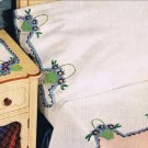 Crochet Pillowcases Edging Patterns , Flower Baskets