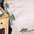 Crochet Pillowcases Edging Patterns , Flower Baskets