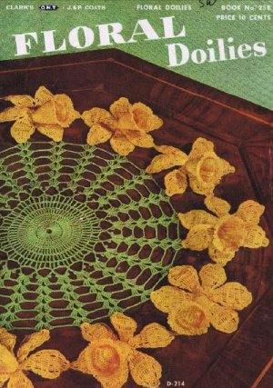 Crochet Book Vintage Patterns Floral Doilies