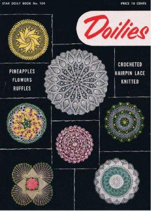 Crochet Vintage Thread Doilies Pattern Book, Star Pdf