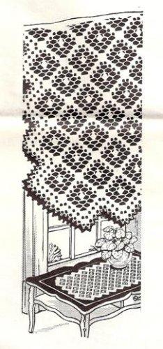 Crochet Runner Centerpiece, Filet Table Doily